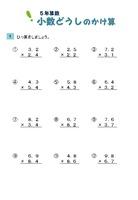 小数同士のかけ算筆算(ひっ算)