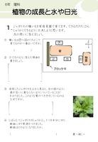植物の成長と水や日光
