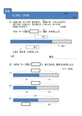 小学2年生算数_たし算とひき算