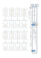 (国語)漢字 一回の しりとり①