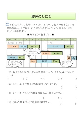 小学3年生_農家の仕事