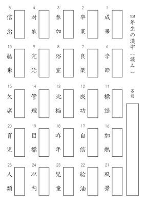 漢字プリント 読み方
