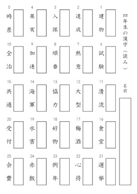 ドリルズはユーザー投稿型の ... : 漢字 マス : 漢字