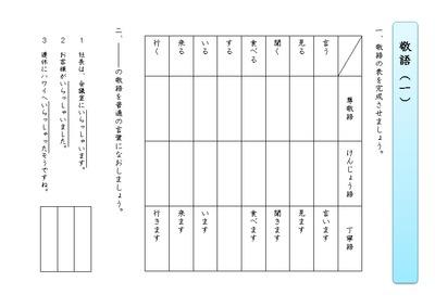 【敬語・謙譲語(けんじょう語)】