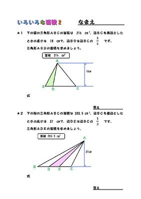 いろいろな面積(多角形) ②